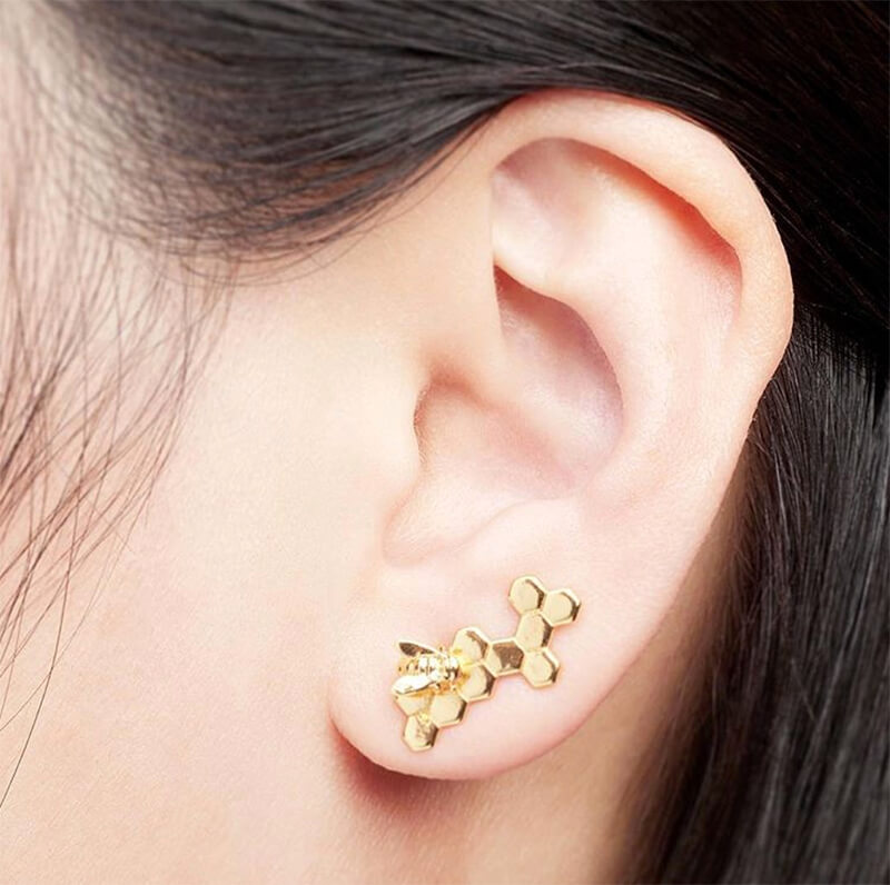 bill skinner bee earrings