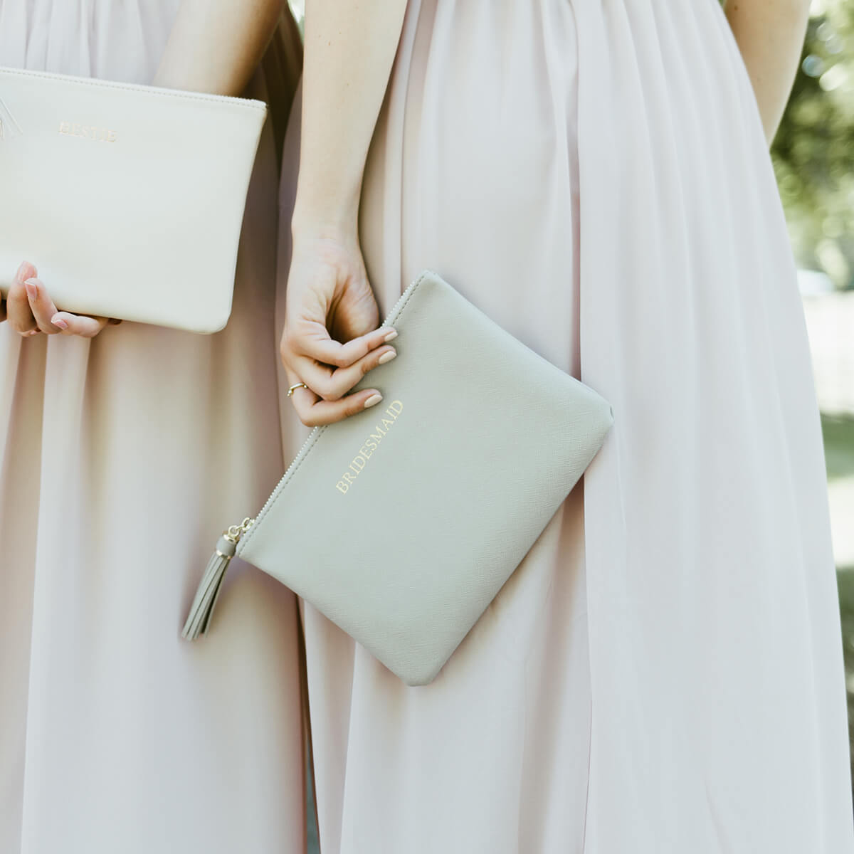 bridesmaid pouch bag